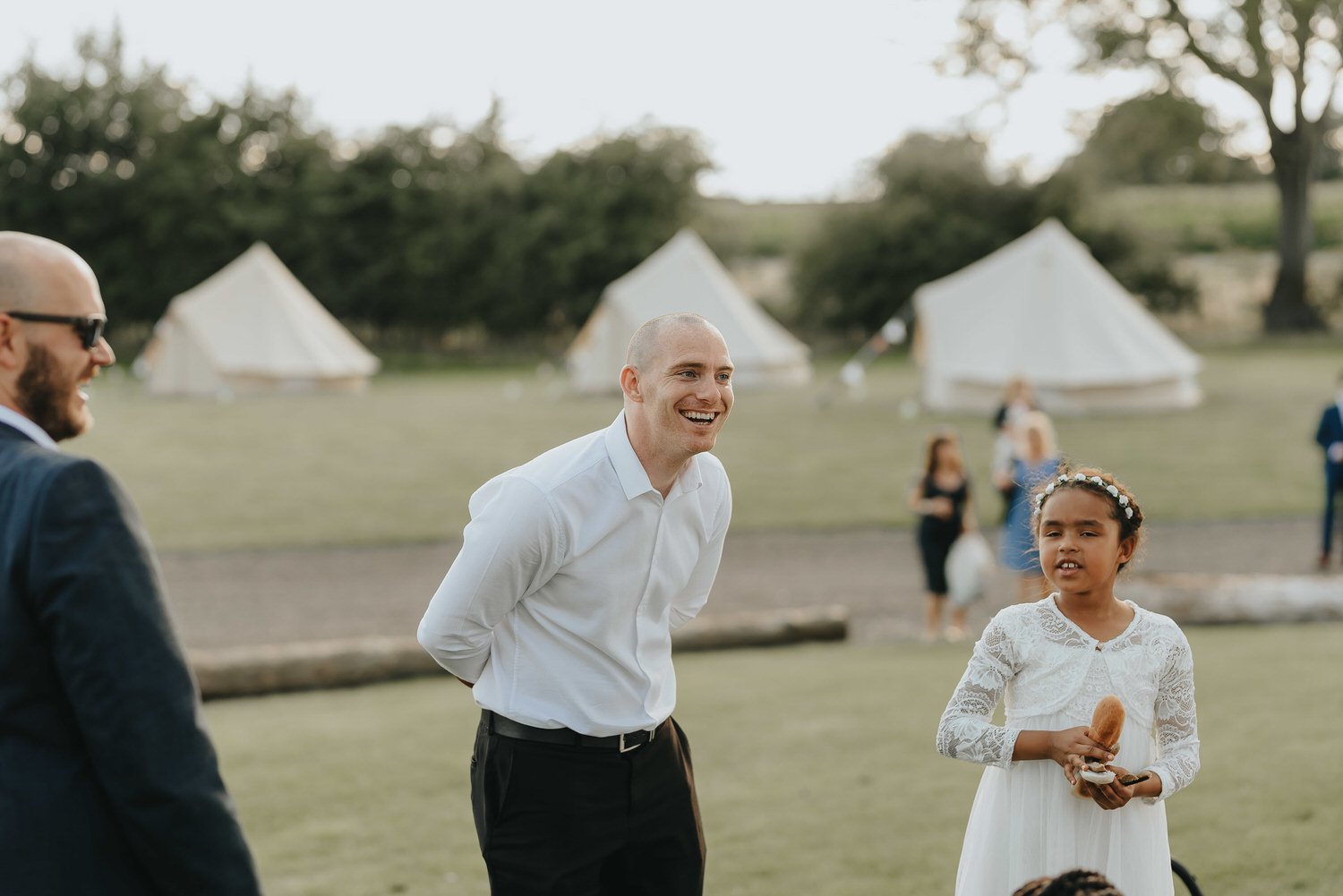 Image taken by a Brook Farm Cuffley wedding photographer of an outdoor wedding in Hertfordshire.