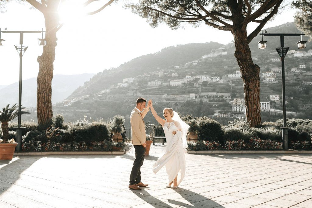 Image of a wedding in Ravello taken by a Ravello wedding photographer on the Amalfi Coast in Italy.